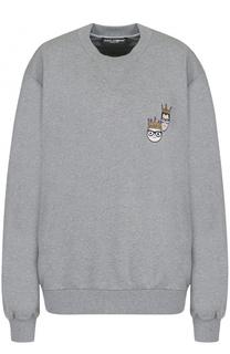 Свитшот свободного кроя с круглым вырезом Dolce & Gabbana
