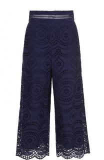Укороченные кружевные брюки Zimmermann
