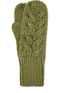 Шерстяные варежки фактурной вязки Karakoram accessories