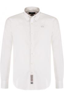 Хлопковая сорочка с воротником button down La Martina