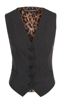 Жилет с контрастной спинкой Dolce & Gabbana