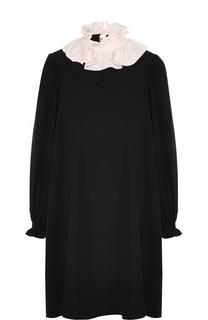 Платье свободного кроя с контрастным воротником Tara Jarmon