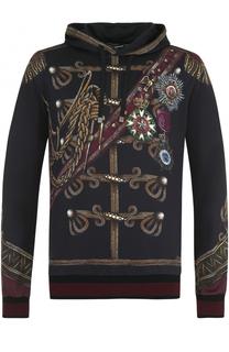 Толстовка с декоративной отделкой и капюшоном Dolce & Gabbana