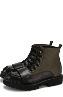Комбинированные ботинки с декоративным ремешком No. 21