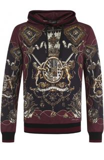 Толстовка с принтом и капюшоном Dolce & Gabbana