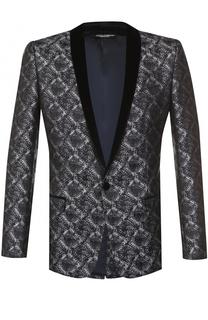Однобортный пиджак с фактурной отделкой Dolce & Gabbana