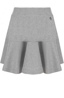 Хлопковая мини-юбка с оборкой Kenzo