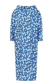 Платье свободного кроя с принтом и укороченным рукавом Marni