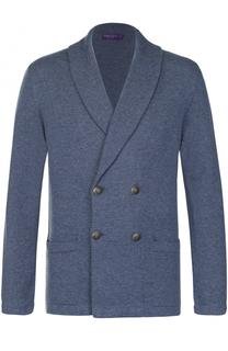 Двубортный кашемировый пиджак Ralph Lauren