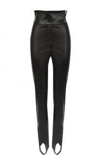 Кожаные брюки-скинни со штрипками DROMe
