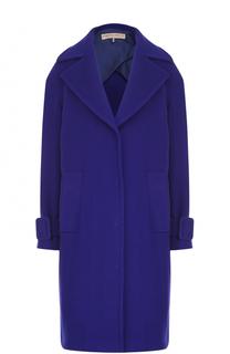 Шерстяное пальто прямого кроя Emilio Pucci