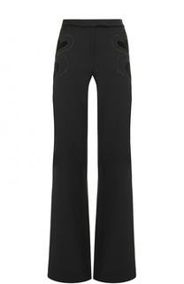 Расклешенные брюки с декоративной отделкой Elie Saab