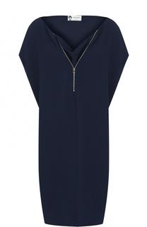 Платье свободного кроя с V-образным вырезом Lanvin