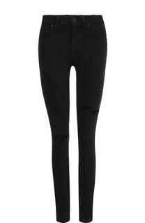Однотонные джинсы-скинни с потертостями Paige