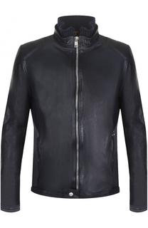 Кожаная куртка на молнии Delan