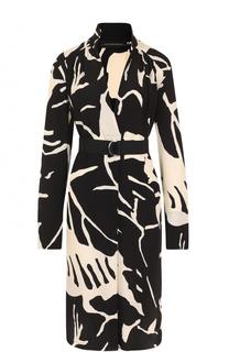 Мини-платье с поясом и принтом By Malene Birger