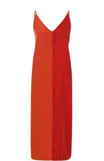 Платье-комбинация из шелка и бархата By Malene Birger