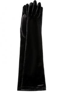 Удлиненные бархатные перчатки Agnelle