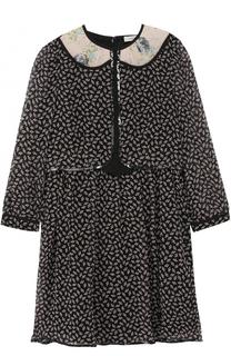 Приталенное шелковое мини-платье Coach