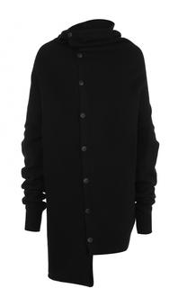 Шерстяной свитер асимметричного кроя Yohji Yamamoto