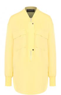 Шелковая блуза свободного кроя с накладными карманами By Malene Birger