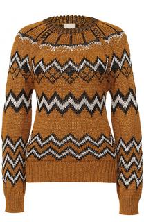 Вязаный пуловер с круглым вырезом Nude