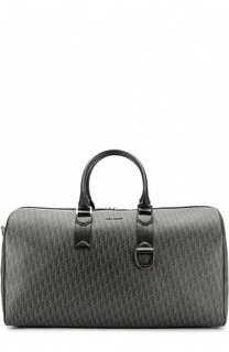 Кожаная дорожная сумка с принтом Dior