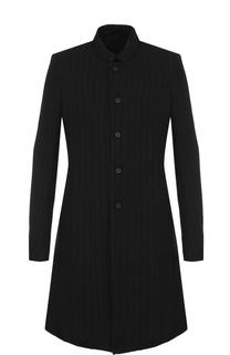 Однобортное пальто из смеси шерсти и льна Masnada