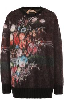 Пуловер свободного кроя с принтом No. 21