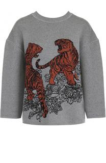 Шерстяной пуловер с укороченным рукавом Tak.Ori