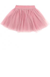 Многослойная мини-юбка с эластичным поясом Monnalisa