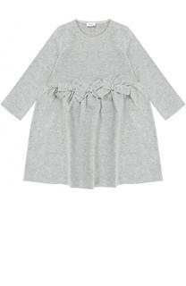 Платье джерси с металлизированной отделкой и бантами Il Gufo