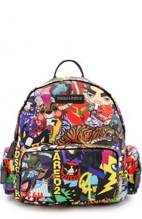 Рюкзак с контрастным принтом Dsquared2