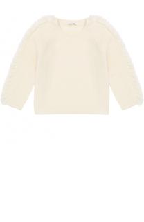 Шерстяной пуловер с бахромой Il Gufo
