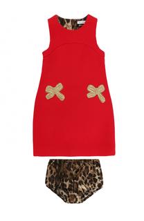 Комплект из платья с декором и трусов Dolce & Gabbana
