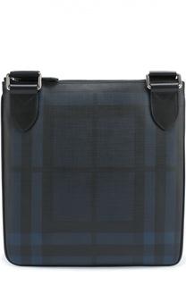 Сумка-планшет в клетку London Check с отделкой из натуральной кожи Burberry