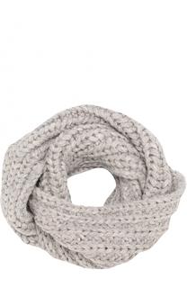 Шерстяной шарф-снуд фактурной вязки Karakoram accessories