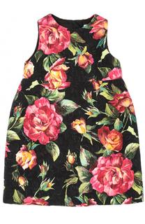 Мини-платье с завышенной талией и принтом Dolce & Gabbana