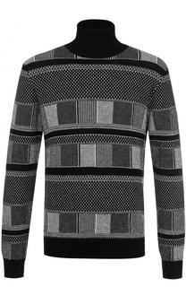 Шерстяной свитер с воротником-стойкой Versace