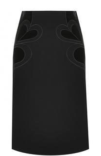 Юбка-миди с декоративной отделкой Elie Saab