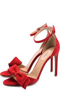 Замшевые босоножки Pretty Bow на шпильке Valentino