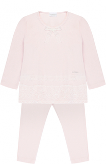 Пижама с кружевной отделкой и бантом La Perla