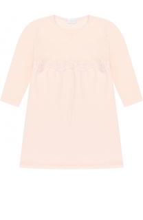 Сорочка с кружевной отделкой и длинными рукавами La Perla
