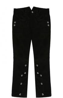 Хлопковые брюки с декоративными пуговицами Dolce & Gabbana