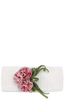 Шерстяная повязка на голову с декором Aletta