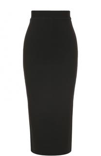 Юбка-карандаш с широким поясом Oscar de la Renta