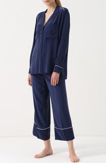 Шелковая пижама с укороченными брюками Equipment