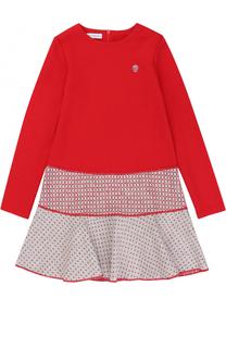 Мини-платье джерси с контрастной отделкой I Pinco Pallino