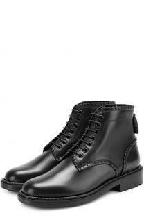 Кожаные ботинки William на шнуровке Saint Laurent