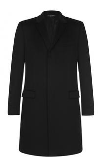 Шерстяное пальто прямого кроя Dolce & Gabbana